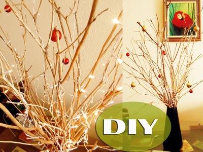 DIY: Árvore de Natal com Galho Seco. Thábatta Campos