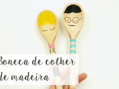 DIY: Boneca de colher de madeira