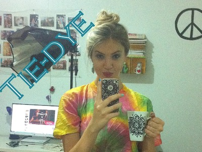 ✄ DIY: Camiseta tie-dye (efeito caracol) | Com tinta Acrilex!