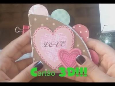 DIY - Cartão 3D!!!!