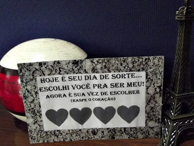 DIY - cartão raspadinha - Especial Dia dos Namorados
