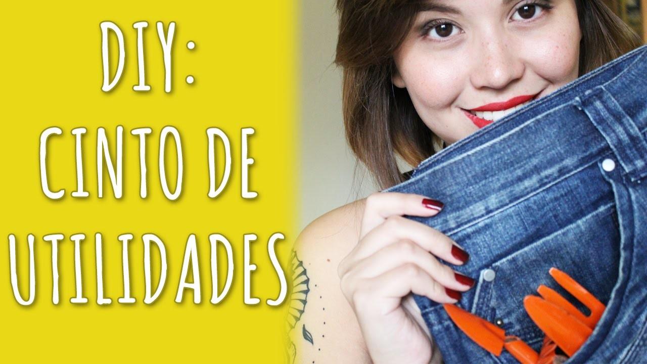 ✂ DIY: Cinto de Utilidades c. Jeans Antiga | Inventário da Sobrevivência