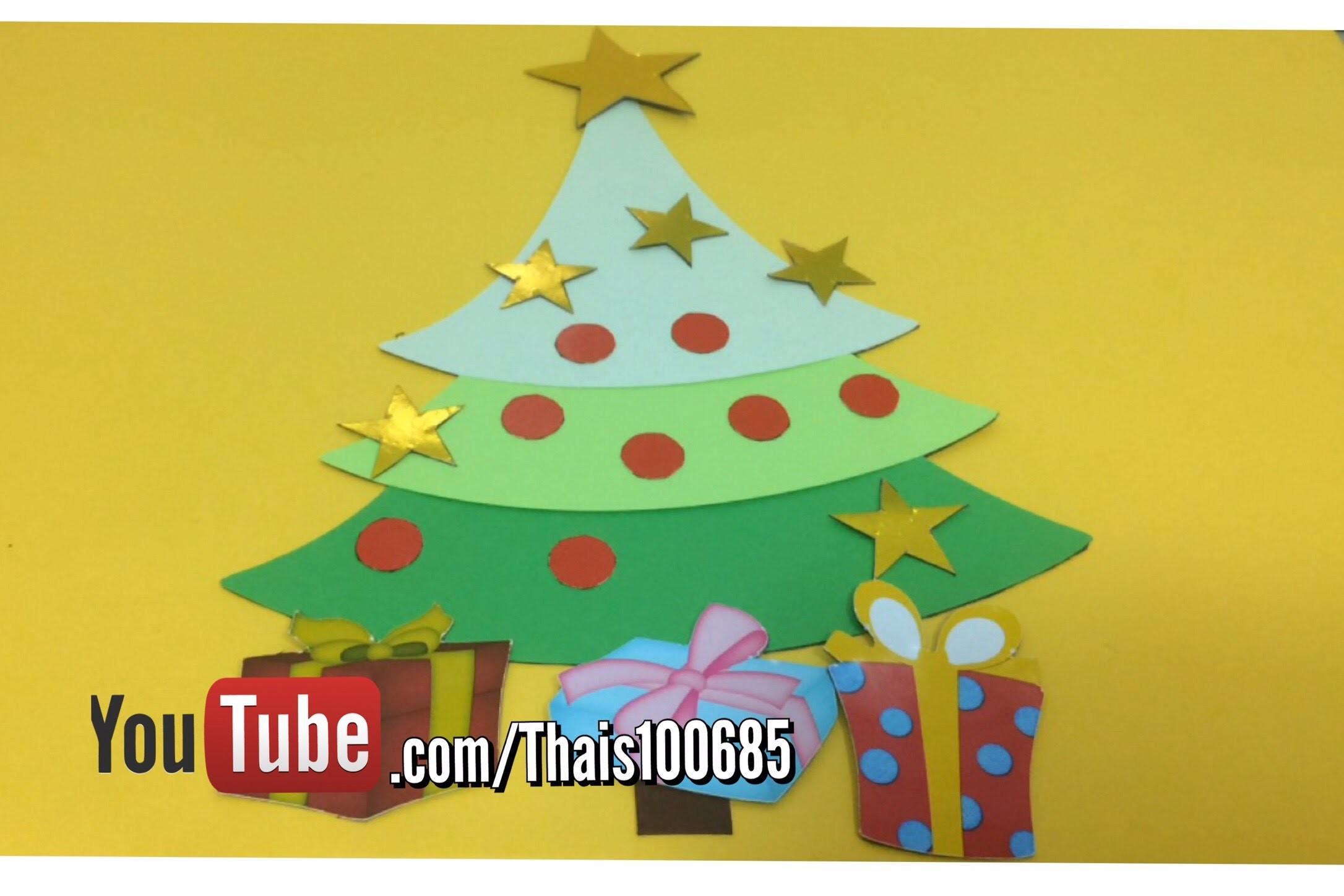 DIY   Como fazer árvore de Natal de imã