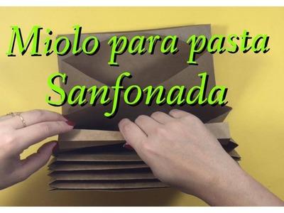 DIY | Como Fazer Miolo para pasta sanfonada