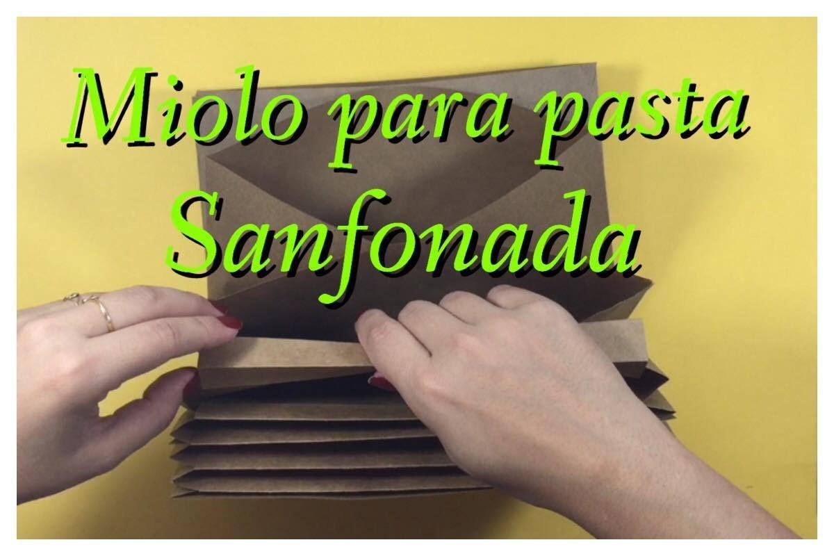 DIY   Como Fazer Miolo para pasta sanfonada