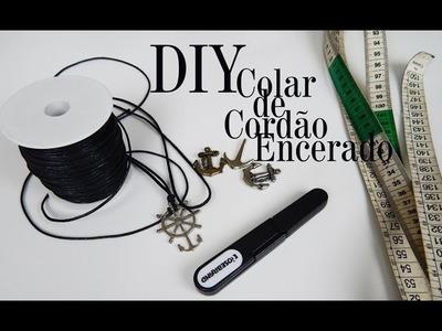 DIY | Como fazer um colar de cordão encerado com pingentes