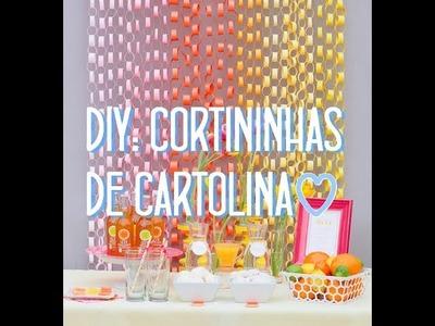 DIY: Cortininhas de cartolina ♡