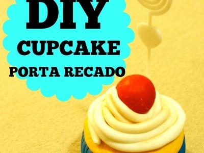DIY- CUPCAKE - PORTA RECADOS - TUTORIAL - POLYMER CLAY