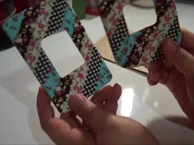 DIY: Customizando espelho de luz com fitas de tecido auto adesivas - Daiso japan (Faça você mesmo)