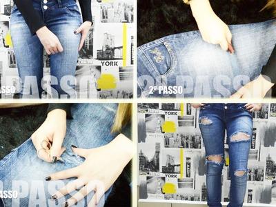 DIY - Customizando Jeans Velho