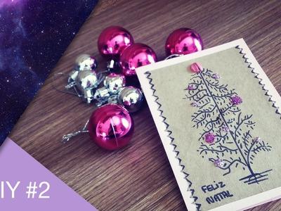 DIY  de Natal #2-Cartão de Natal