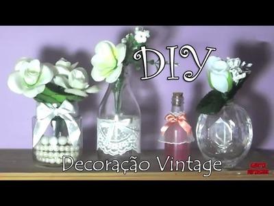 DIY: DECORAÇÃO VINTAGE com frascos - por Garota VintaGeek