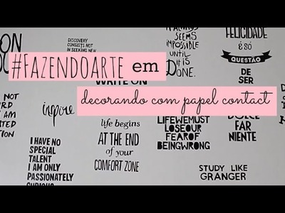 DIY: decorando com papel contact ♥ | #fazendoarte | Jella