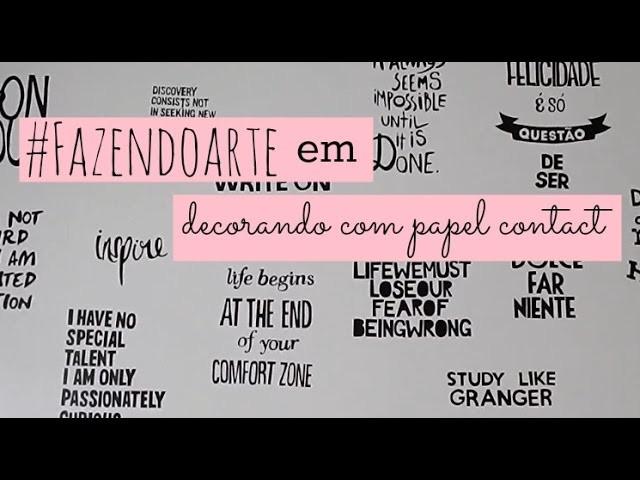 DIY: decorando com papel contact ♥ | #fazendoarte | Jella