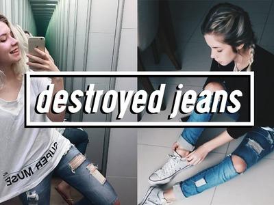 DIY: Destroyed Jeans (MUITO Fácil)
