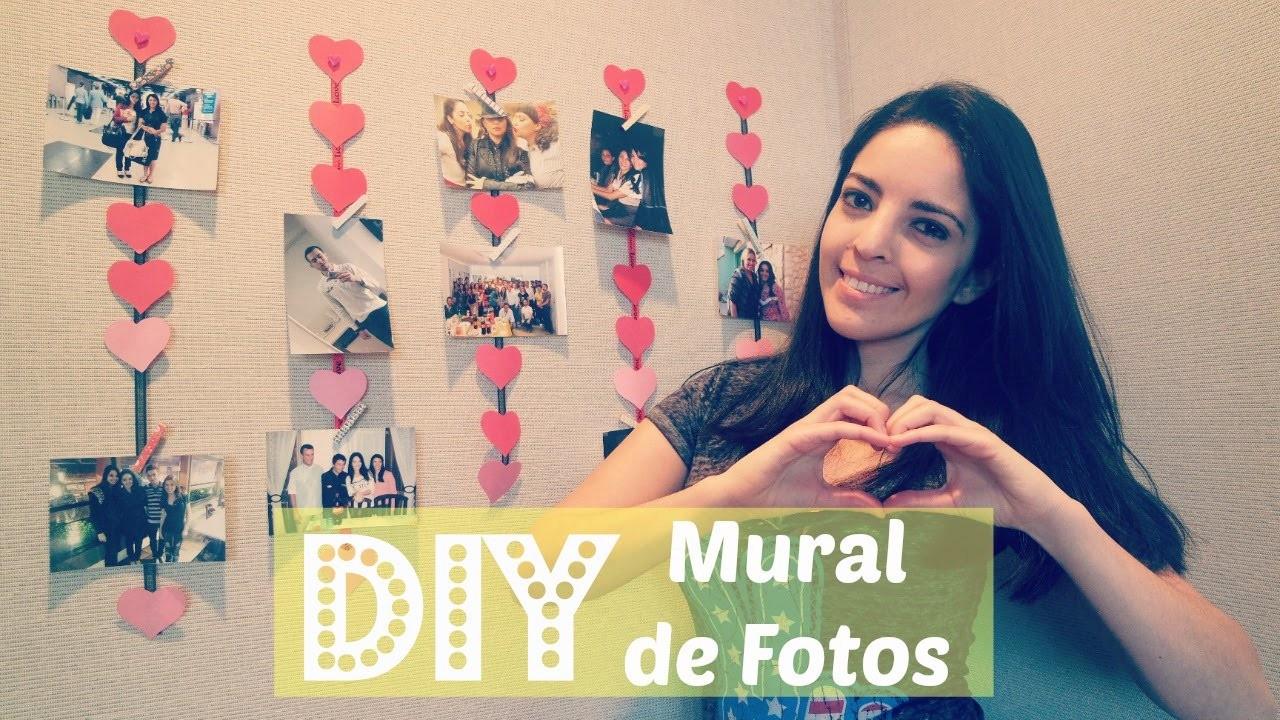DIY.Faça você Mesma - Mural de Fotos de coração
