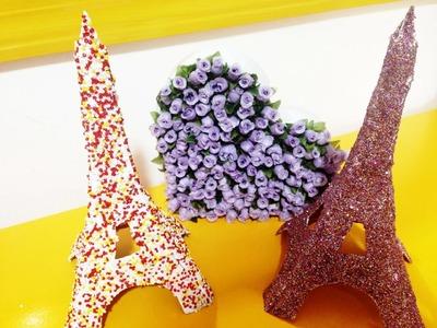 Diy- Faça você mesma Torre Eiffel de papelão para decoração | How to Eiffel Tower | Tatiane Xavier