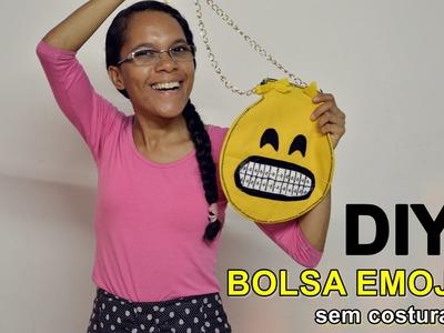 DIY (Faça Você Mesmo) | Bolsa Emoji sem Costura