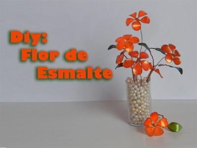 DIY: Faça você mesmo Flor Feita de Esmalte passo a passo.