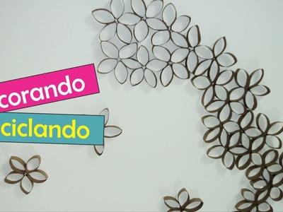DIY: Flores com rolo de papel higiênico, por Natália Leite