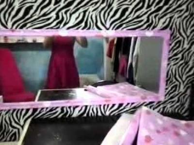 Diy: meu espelho finalizado com papel contact