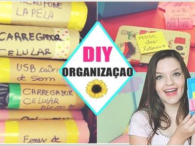 DIY ORGANIZAÇÃO | Fios arrumadinhos & POST-IT ♥
