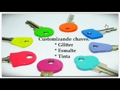 Diy: Personalize suas chaves de modo bem pratico e fofo