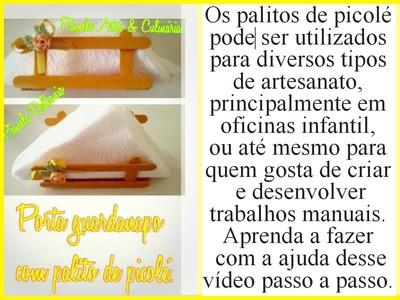 Diy: Porta guardanapo feito com palito de picolé ( Reciclagem )
