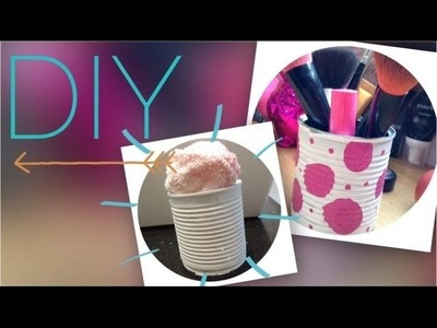 DIY: Porta-pincéis ou porta-toalha feita com latinha. Michelle Garcia