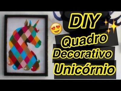 DIY - Quadro Decorativo Unicórnio - Eduardo Wizard