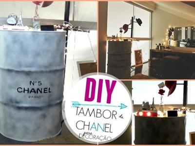 DIY: TAMBOR DA CHANEL PARA DECORAÇÃO | #decorandocompouco