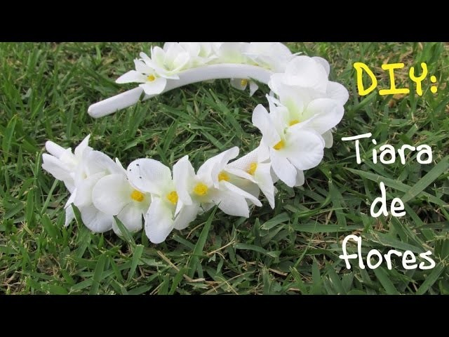 DIY- Tiara com flores artificiais ✿