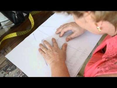 DIY : transformando um molde de manga comum em manga raglan - aula 66