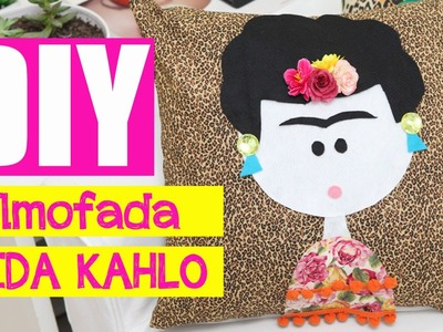 Faça Você mesmo: ALMOFADA FRIDA KAHLO #diy