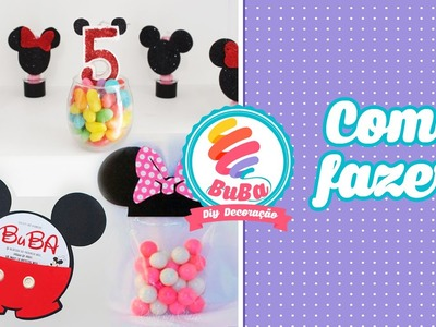 Festa Simples Mickey e Minnie - 3 Diy Mickey