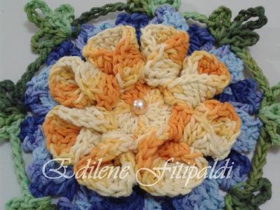 """Flor Americana #Coleção """"Minhas flores em Crochê"""""""