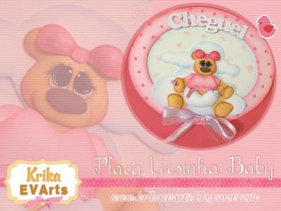 Krika.com - Placa Ursinha Baby