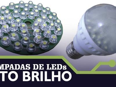 LAMPADA DE LEDs DE ALTO BRILHO -  KIT DIY(Montagem) - ICSTATION.