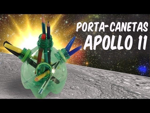 Porta-canetas Apollo 11 (artesanato)