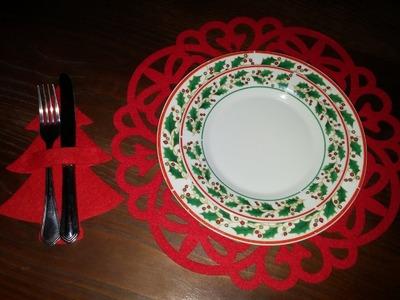 Porta talher de Natal fácil - DIY - Christmas cutlery covers