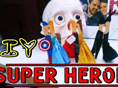 Super Herói Porta Bilhete - DIY (Faça voce mesmo)