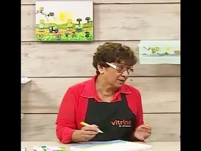 Tela com canetinha e apliques com Dalva Machado | Vitrine do artesanato na TV