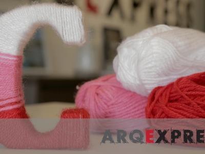 ArqExpress - DIY Letra para quarto de Bebê