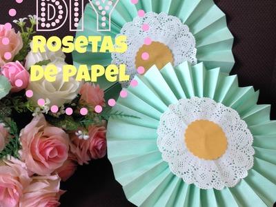 D.I.Y Rosetas de papel