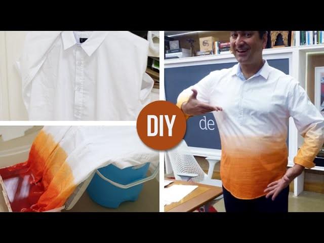 DIY: Camisa DIP DYE usando uma tinta só! (Customizando com R$ 1,50)