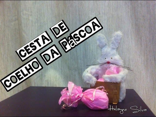 Diy Cesta De Páscoa Feita De Caixa De Leite Coelho Da Páscoa
