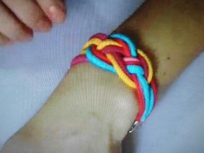 DIY - Como fazer Bracelete ou pulseira (cómo hacer una Bracelet)
