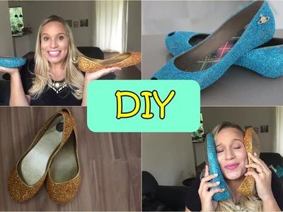 DIY : Customização de melissas ( Desflocando e recuperando o Glitter)