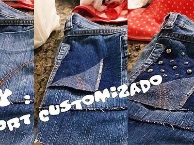 DIY: Customização de Short Masculino.