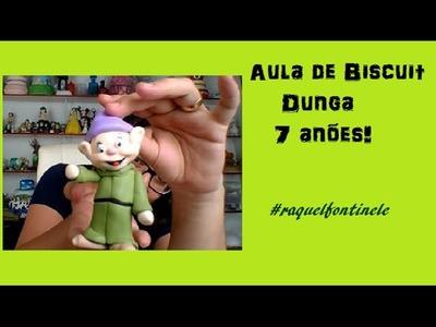 DIY-  Dunga dos 7 anões - Biscuit - Raquel Fontinele